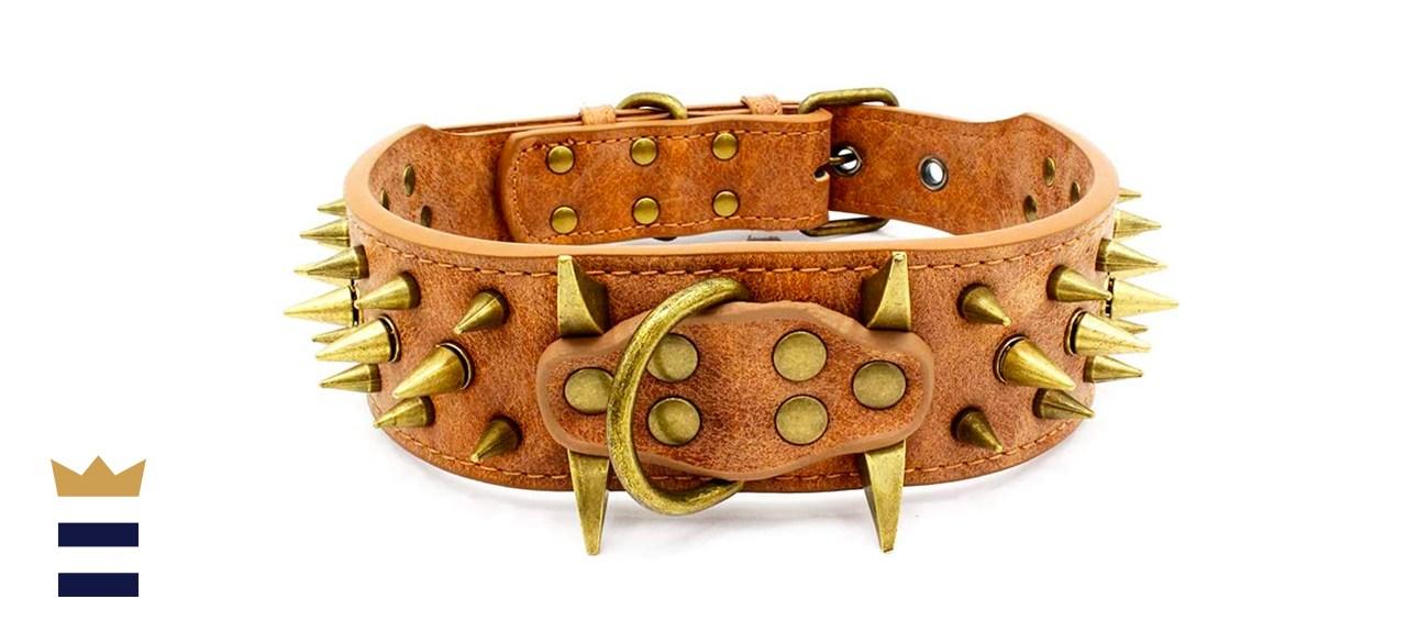 Large Spiked Studded Dog Collar