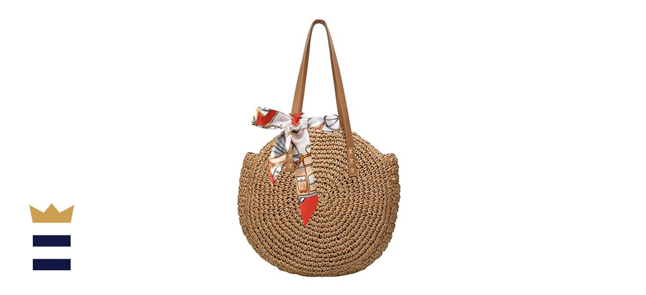 Women's Straw Handbags Large Summer Beach Tote
