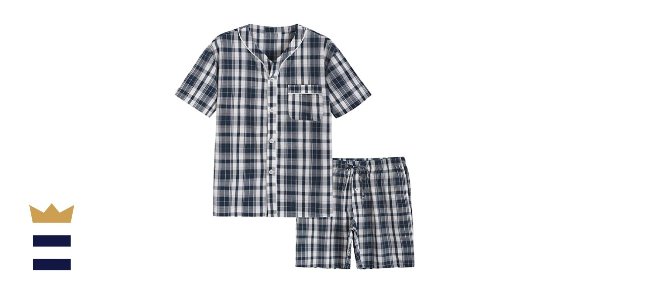 Latuza Men's Summer Cotton Pajamas Shorts Set