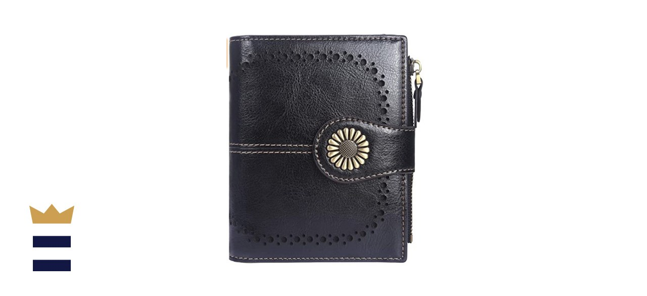 Lavemi Women's RFID Blocking Small Bifold Leather Pocket Wallet