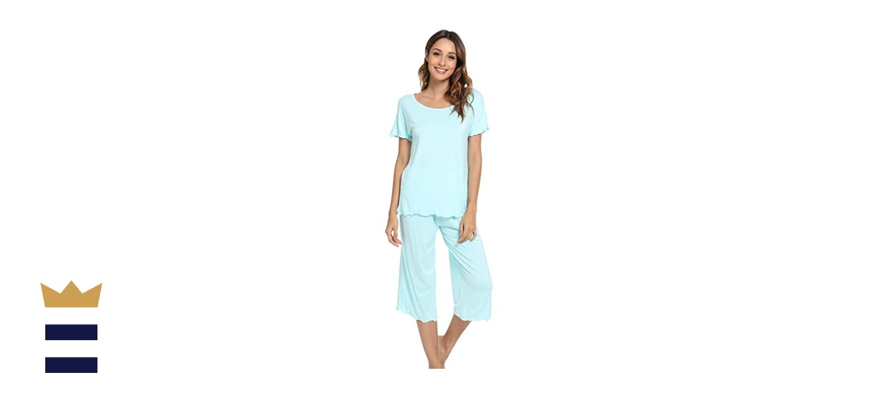 LazyCozy Women's Capri Pajamas