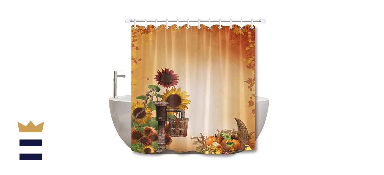 LB Rustic Sunflower Fall Shower Curtain