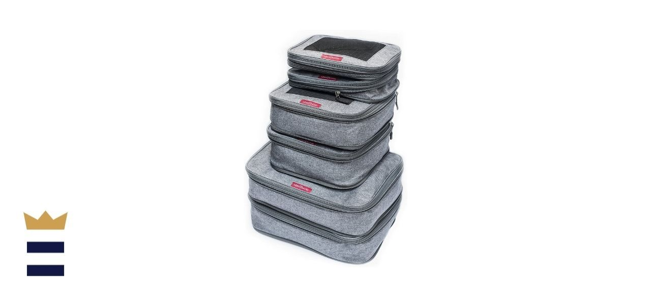 LeanTravel Compression Packing Cubes for Travel