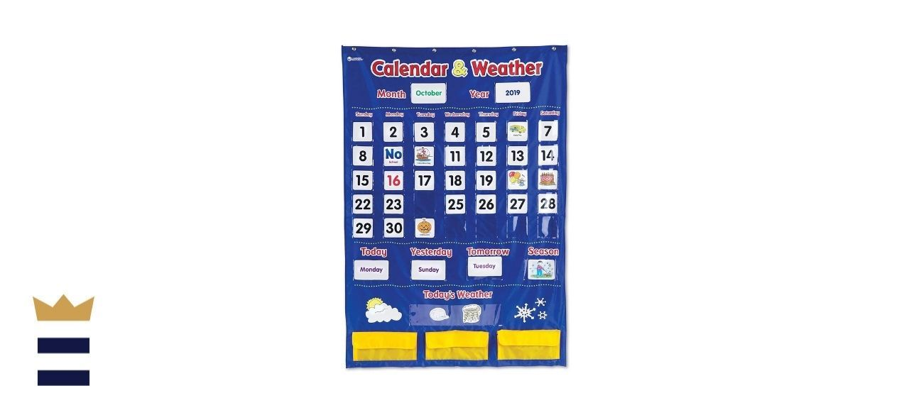 Learning Resources' Calendar and Weather Pocket Chart