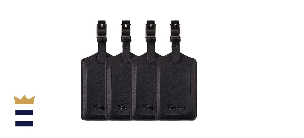 Travelambo Leather Luggage Travel Bag Tags
