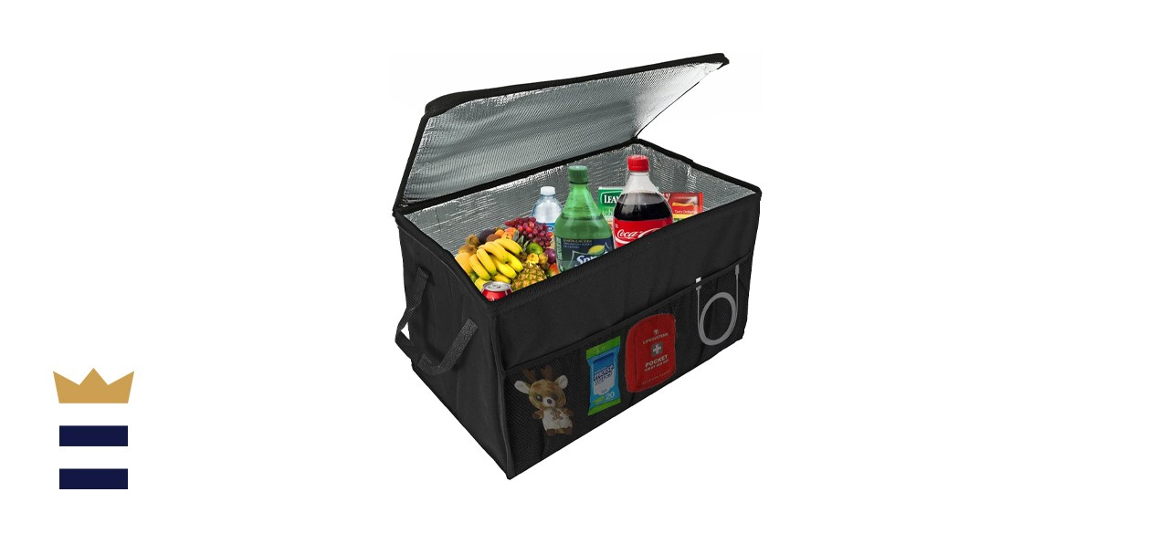 Lebogner Insulated Car Console Organizer Cooler