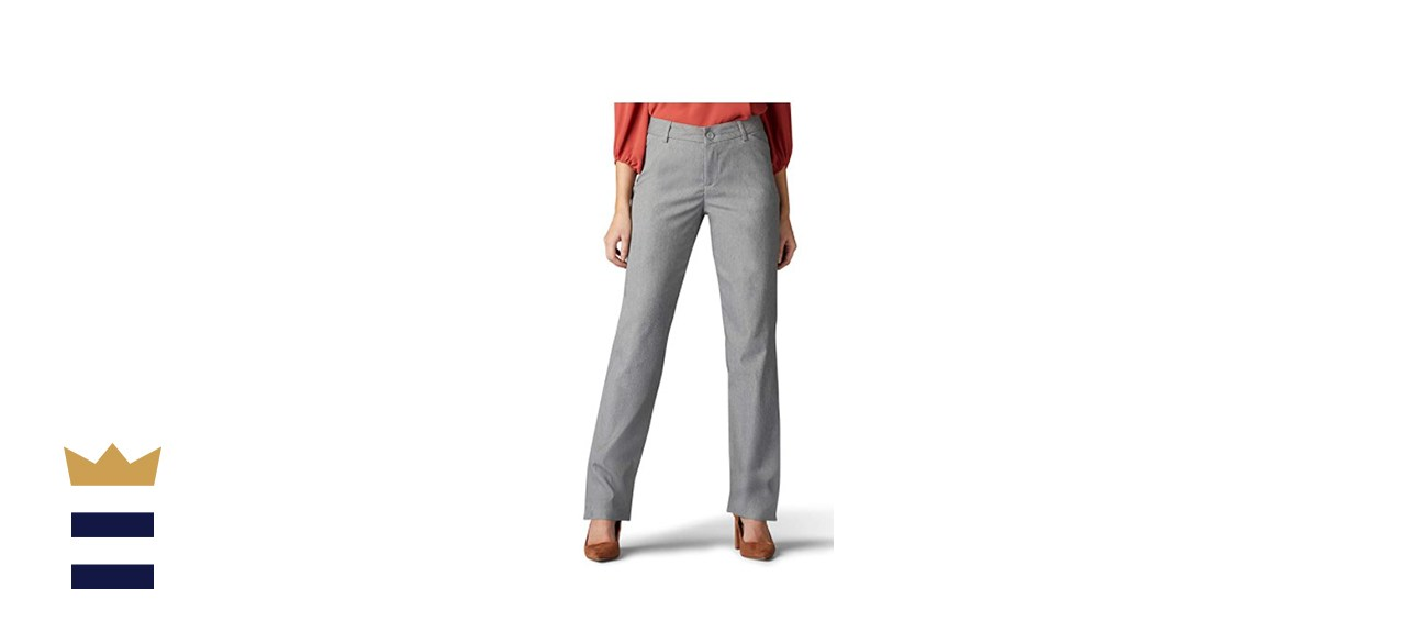 Lee Women's Wrinkle-Free Relaxed-Fit Straight Leg Pant