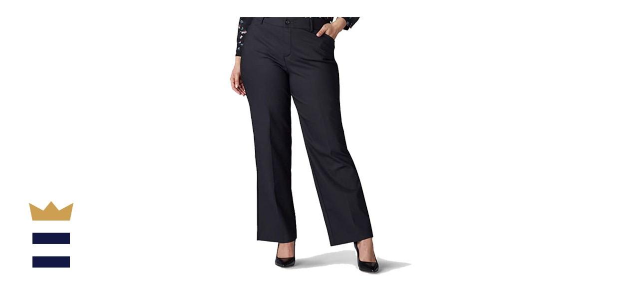 LEE Women's Plus-Size Flex Motion Trouser Pant
