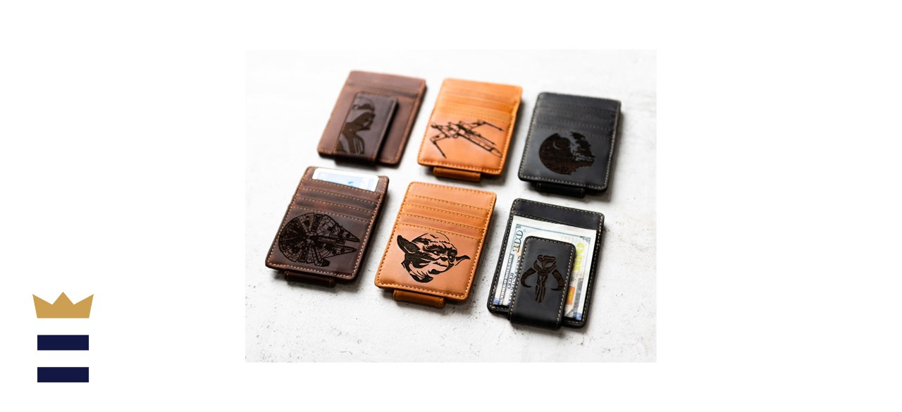 Left Coast Original Star Wars Personalized Leather Magnetic Money Clip