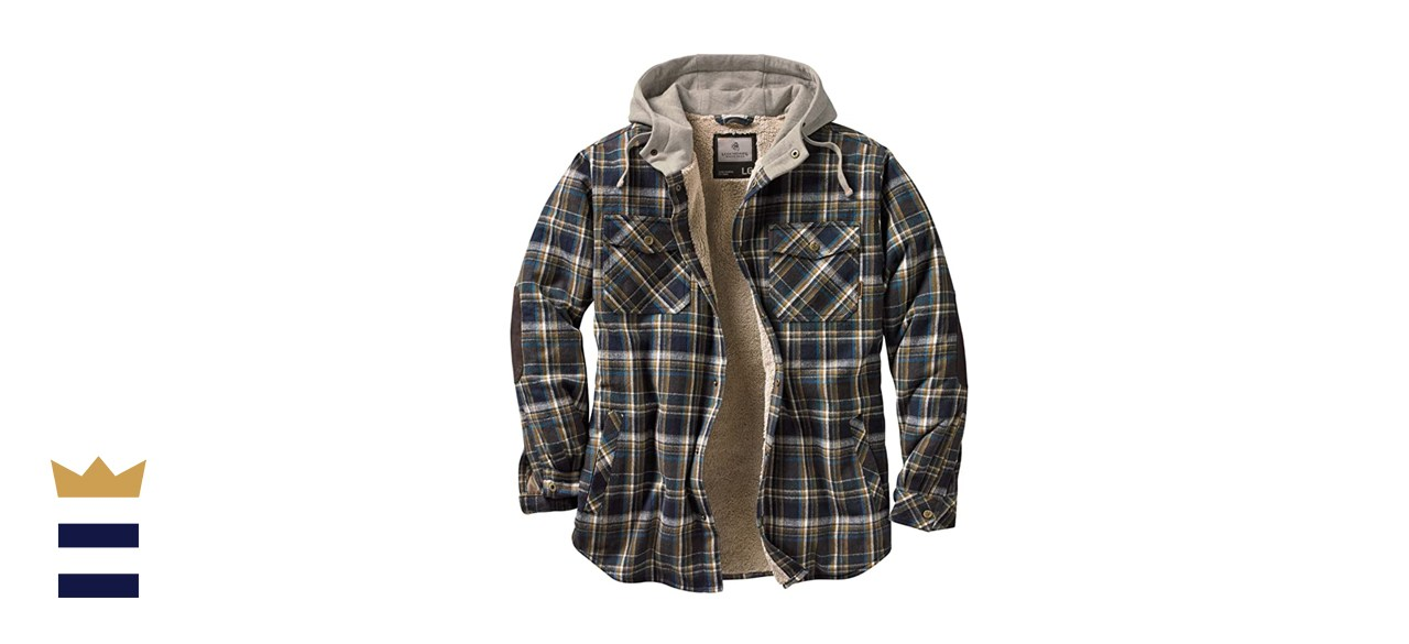 Legendary Whitetails Camp Night Berber Lined Hooded Flannel Shirt Jacket