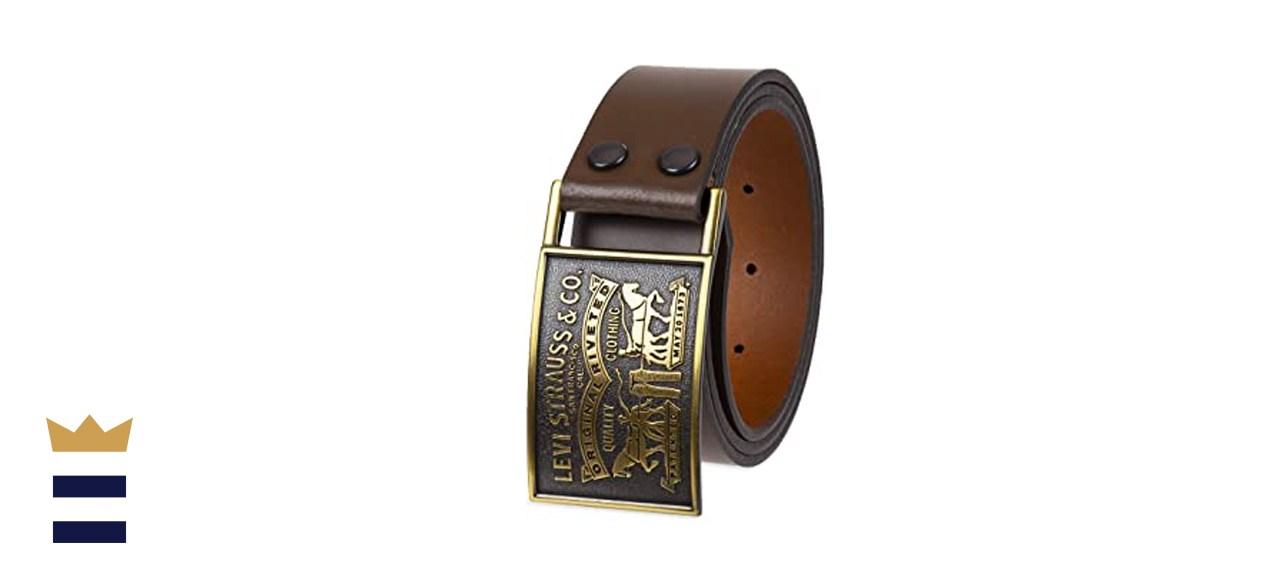 Levi's Plaque Buckle Leather Belt