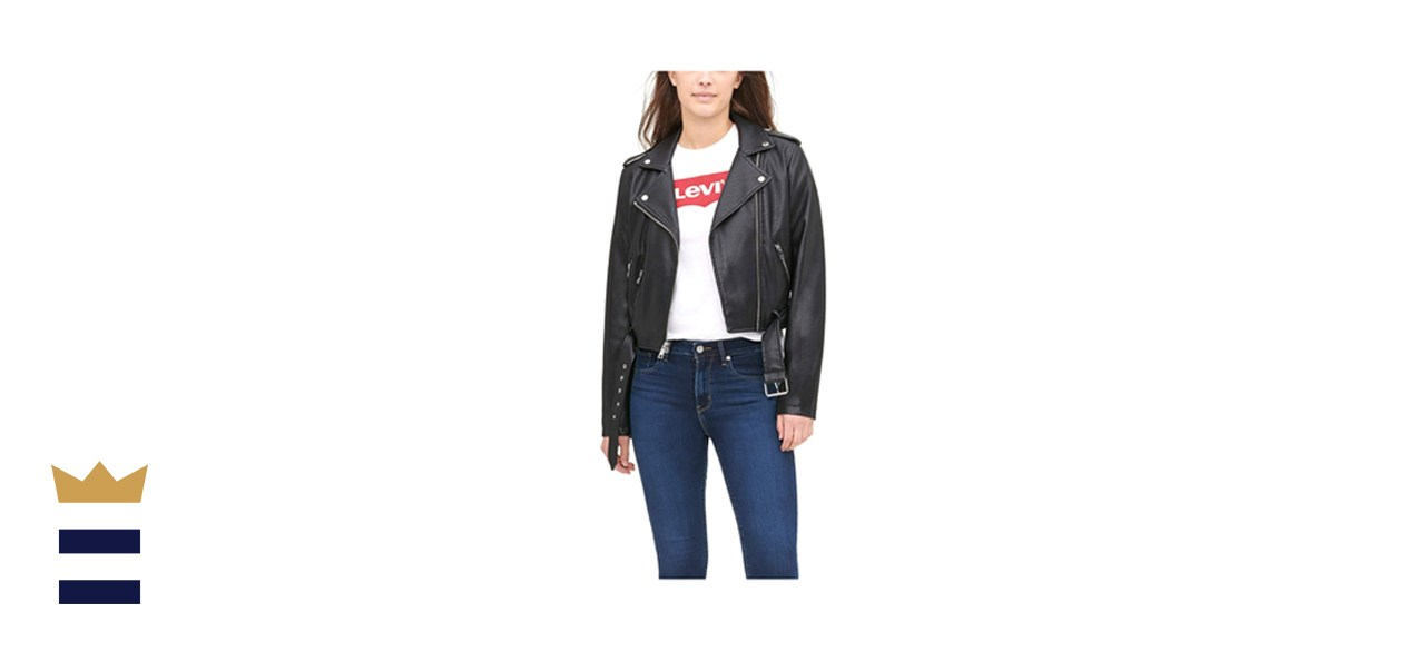 Levi's Women's Faux Leather Belted Motorcycle Jacket