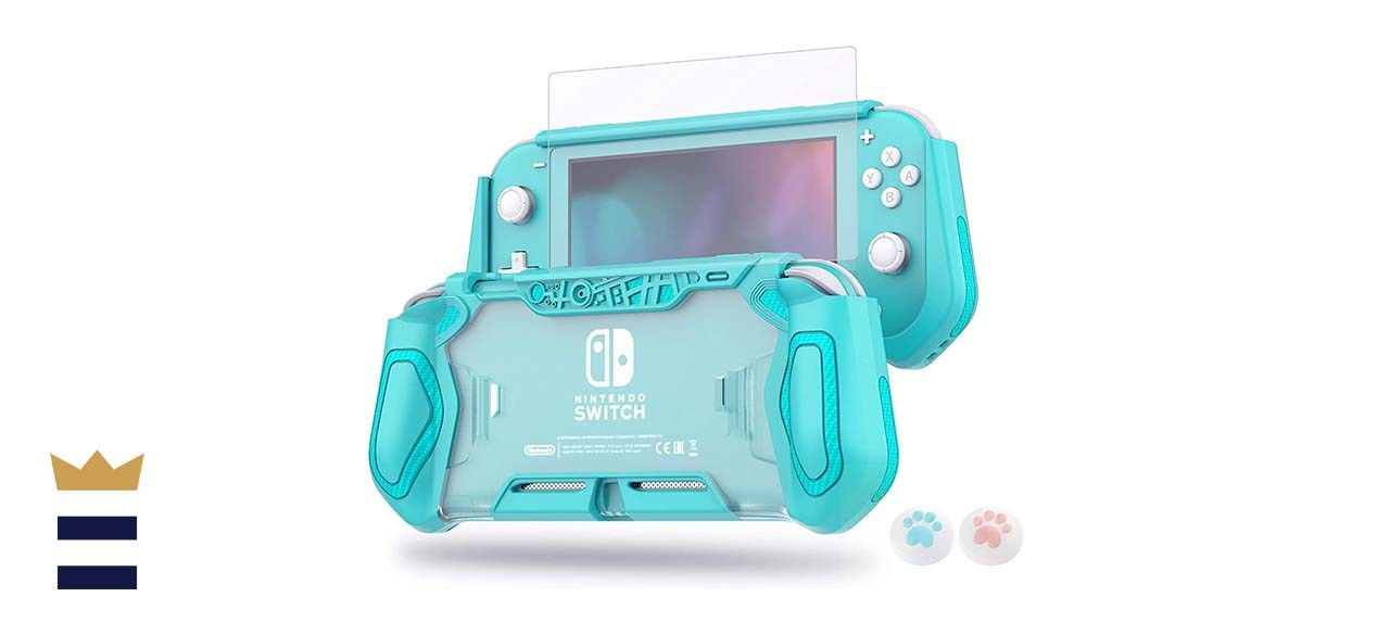 LeyuSmart Tempered Glass Protector Case for Nintendo Switch Lite