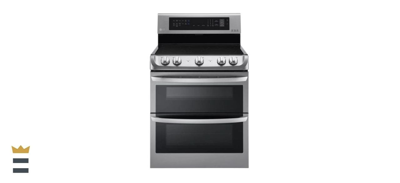 LG 7.3-Cubic Foot Double Oven Electric Range with ProBake