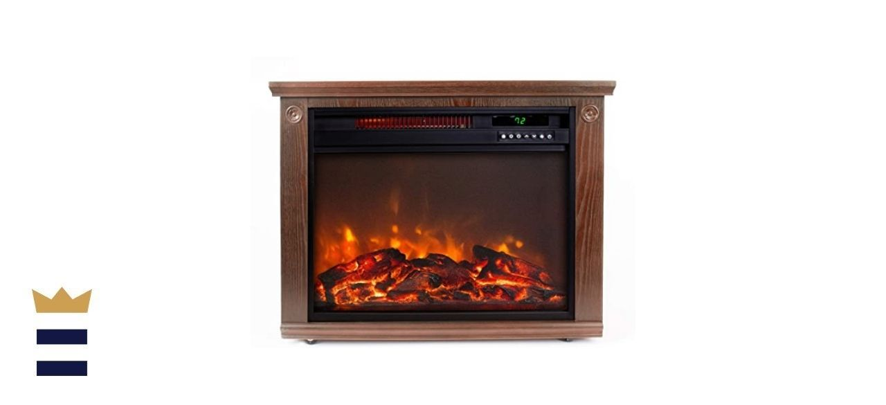 LIFE SMART Large Room Infrared Quartz Fireplace
