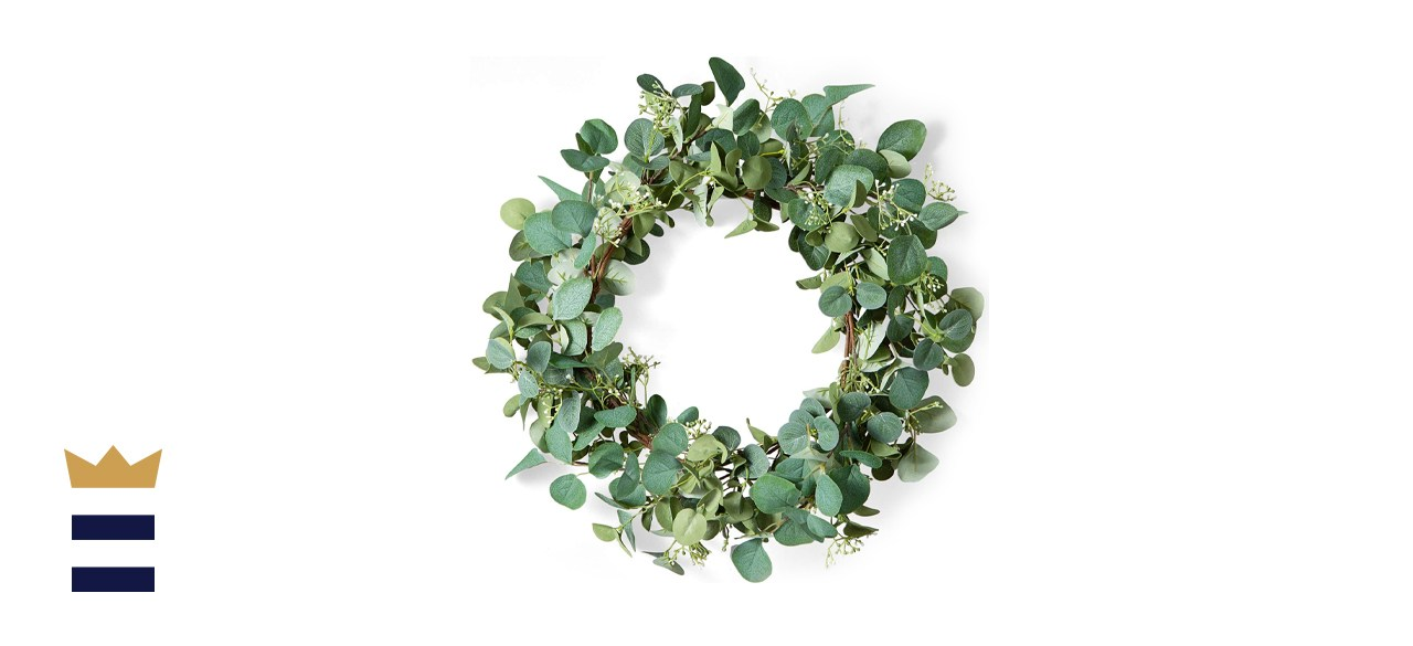 Lifeair Green Eucalyptus Leaf Wreath