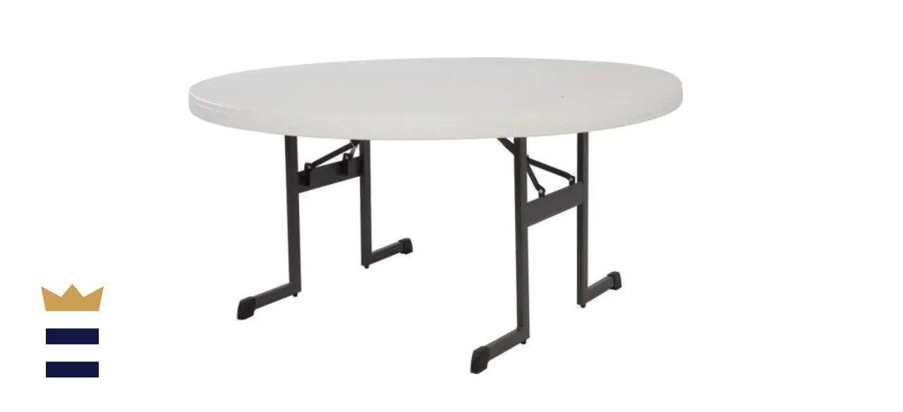 Lifetime 5-Foot, Round, Folding Banquet Table