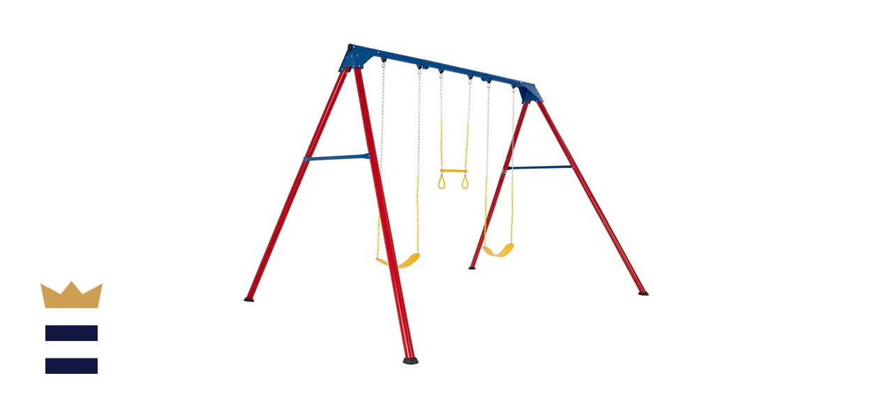 Lifetime 90200 Heavy Duty A-Frame Metal Swing Set