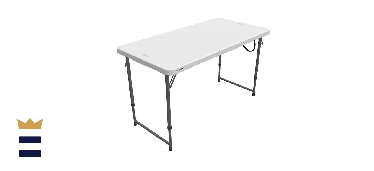Lifetime Adjustable, 4-Foot, Folding Utility Table