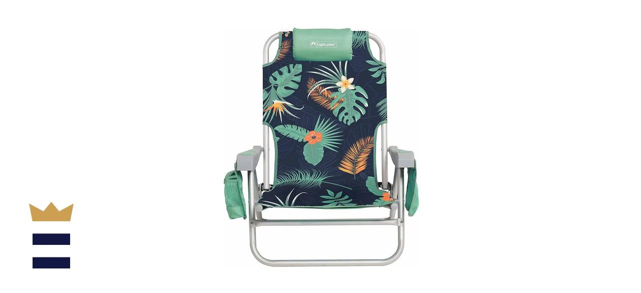Lightspeed Outdoors Reclining Beach Chair
