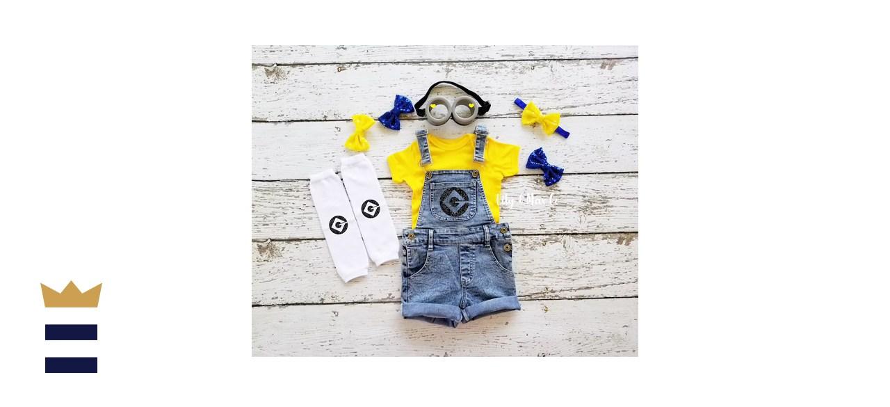 LilyandMaxCo Minions Birthday Overall Costume