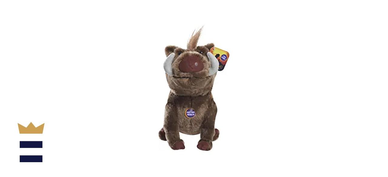 """Lion King Live Action 7"""" Bean Plush - Pumbaa"""
