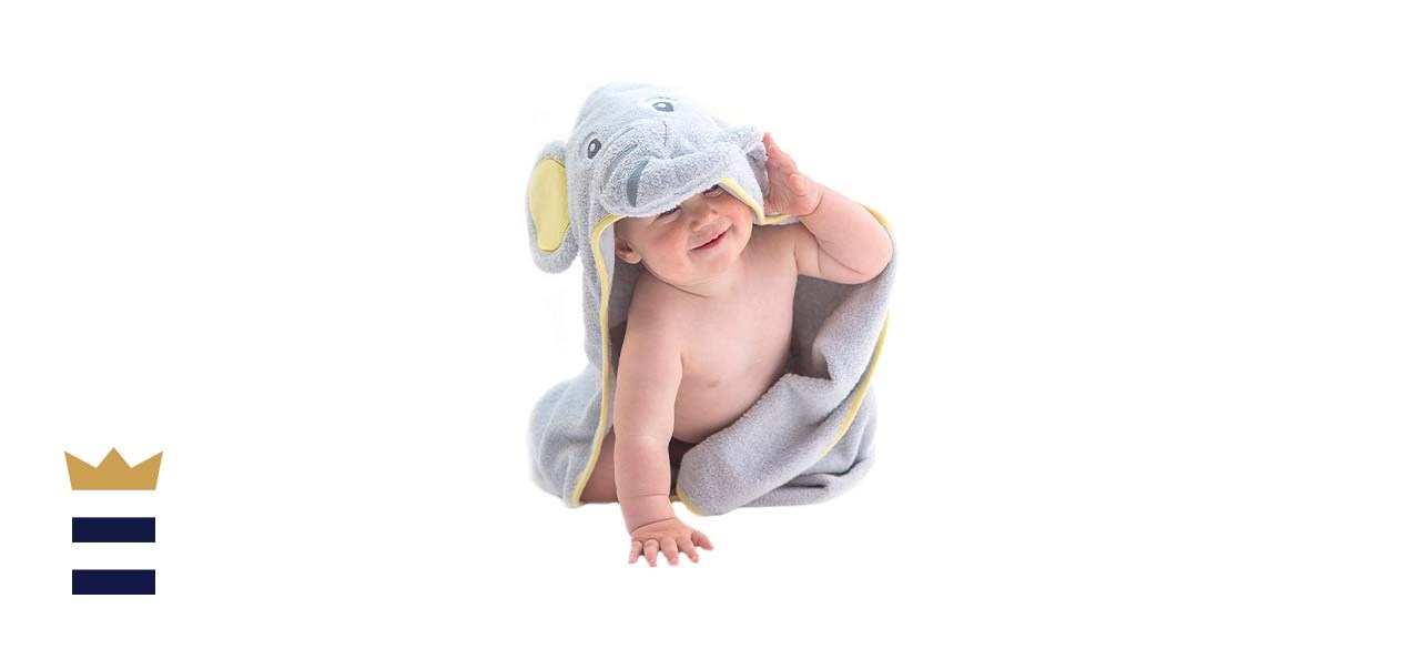Little Tinkers World Elephant Hooded Baby Towel