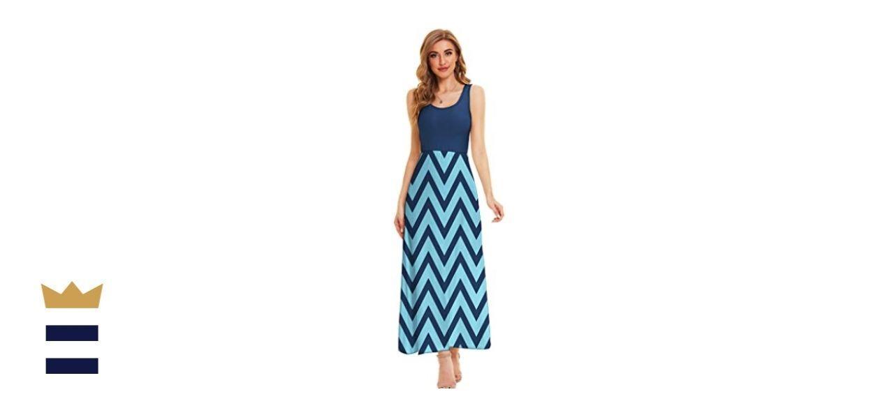 LIYOHON Women's Summer Maxi Dress Boho Tank Dress