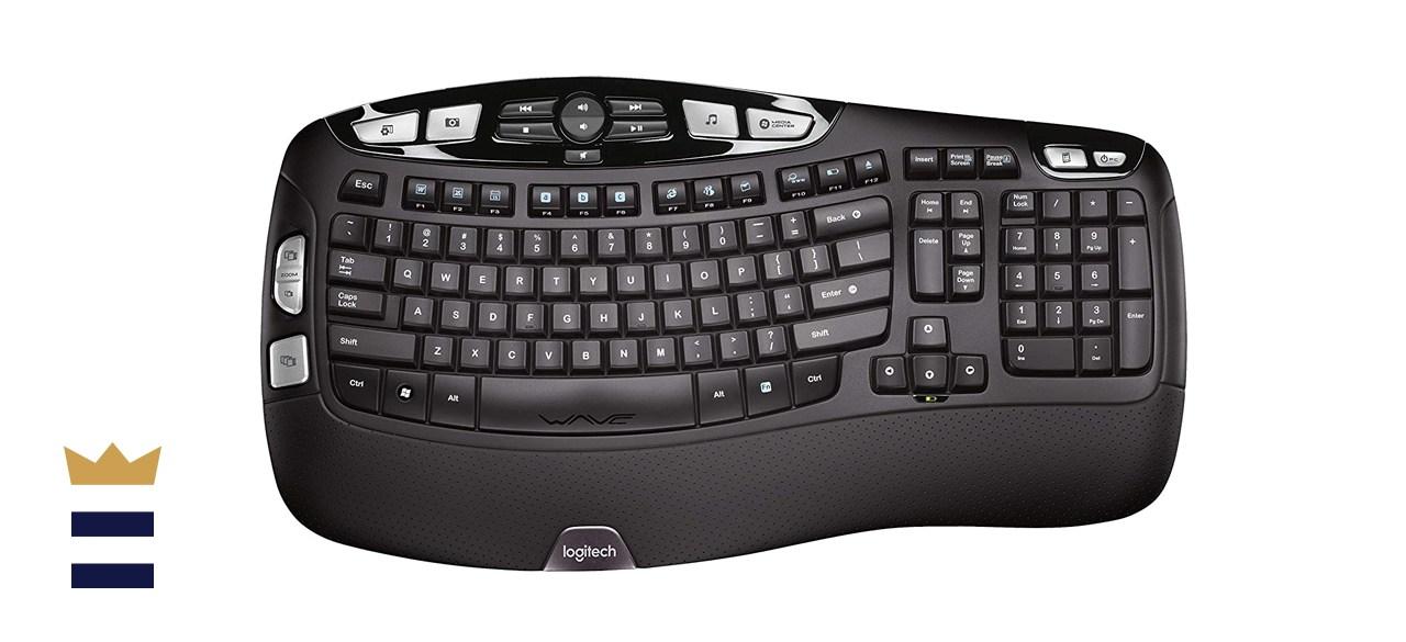 Logitech K350 Wireless Wave Ergonomic Keyboard
