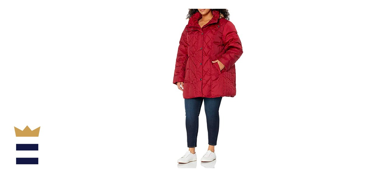 London Fog Diamond Quilted Down Coat