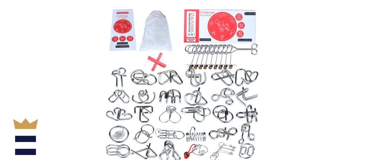 long fa32 Brain Teasers Metal Wire IQ Puzzles