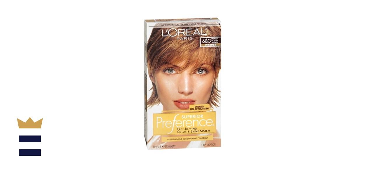 L'Oreal Paris Fade-Defying Lightest Gold Brown Dye