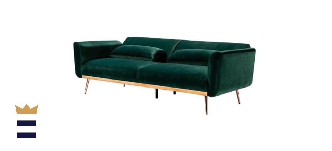 Cartier 3-Seat Green Velvet Sofa