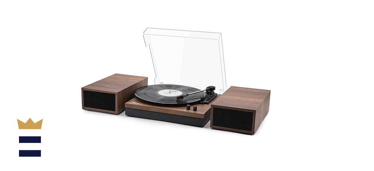 LP&No.1 Retro Bluetooth Record Player Turntable with Speakers