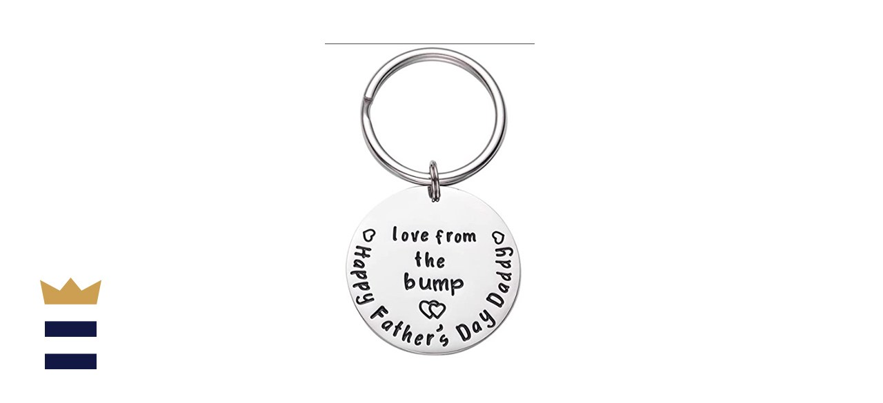 LParkin First Love from The Bump Happy Daddy to Be Gift Keychain