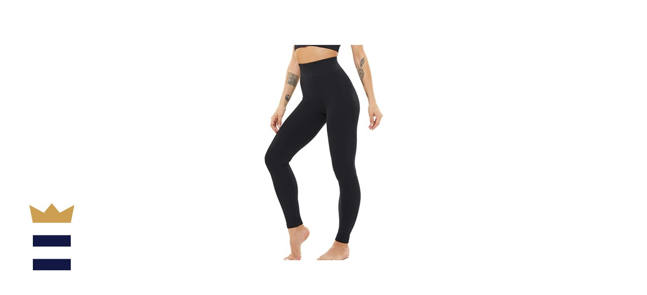 Luoyanxi Thick Fleece-Lined Leggings with Tummy Control