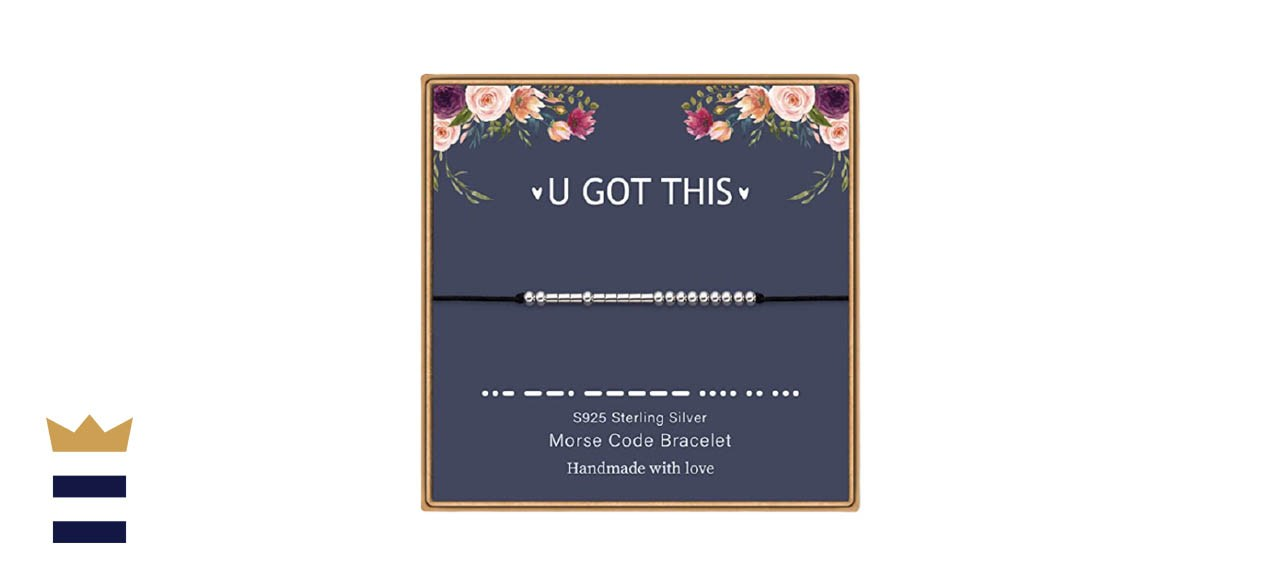 M MOOHAM 925 Sterling Silver Morse Code Bracelet - U GOT THIS