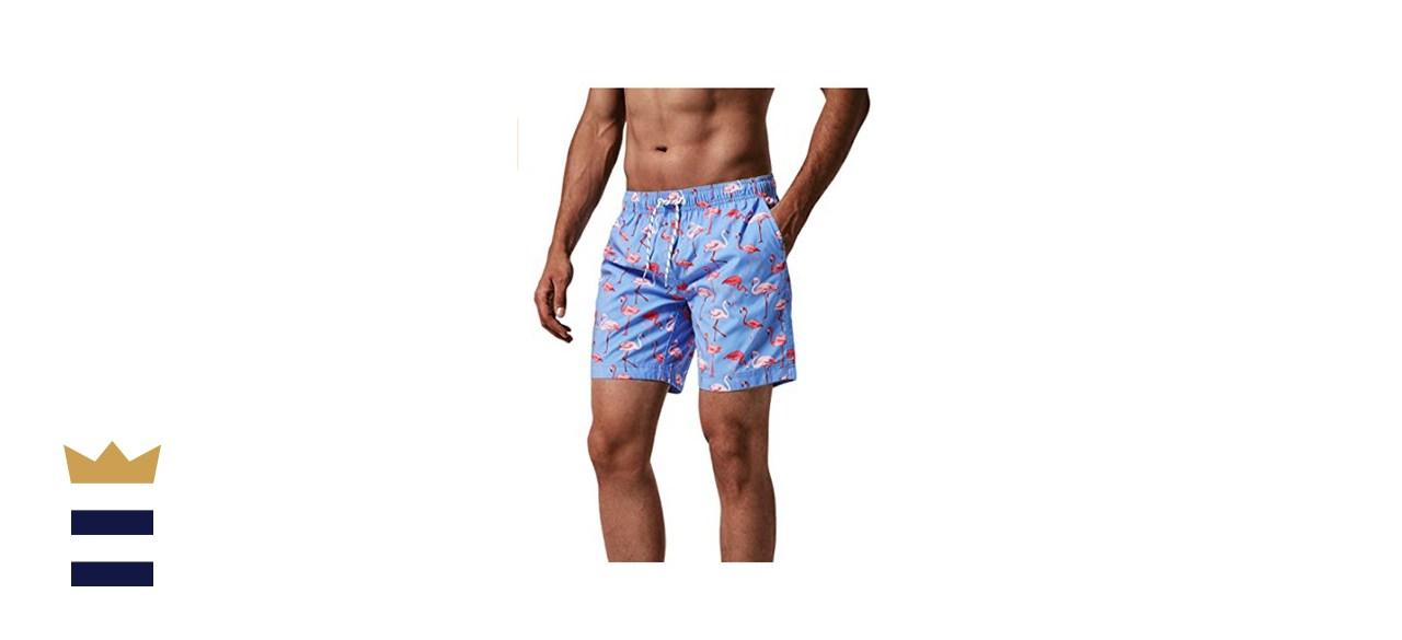 maamgic Men's Slim-Fit Quick-Dry Swim Shorts