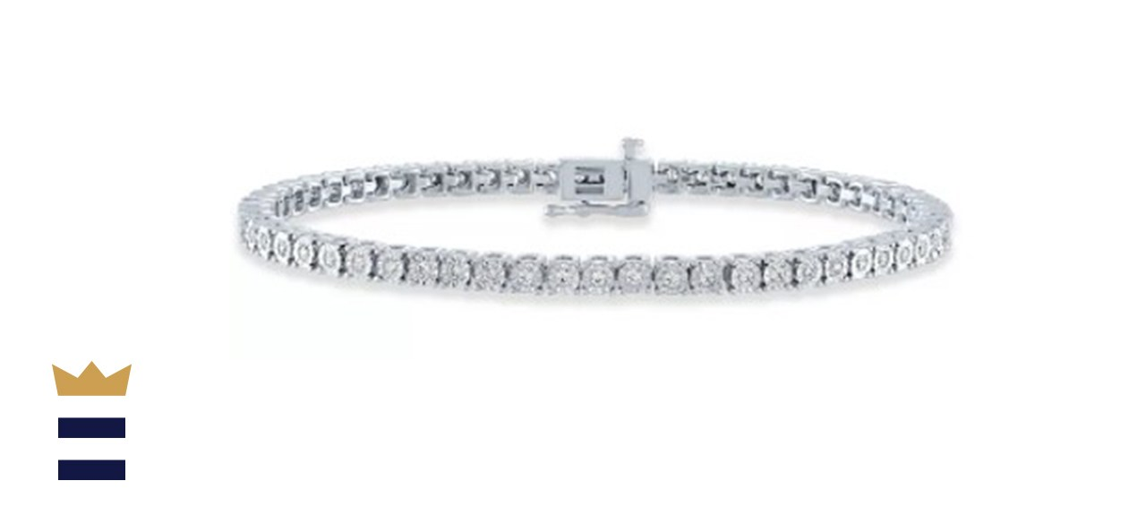 Macy's Diamond Tennis Bracelet in Sterling Silver, 14k Gold-Plated Sterling Silver, or 14k Rose Gold-Plated Sterling Silver