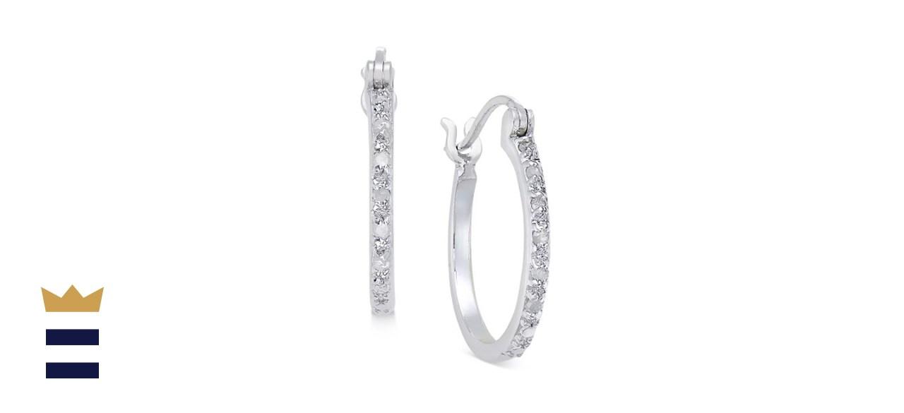Macy's Diamond Hoop Earrings (1/10 ct.)