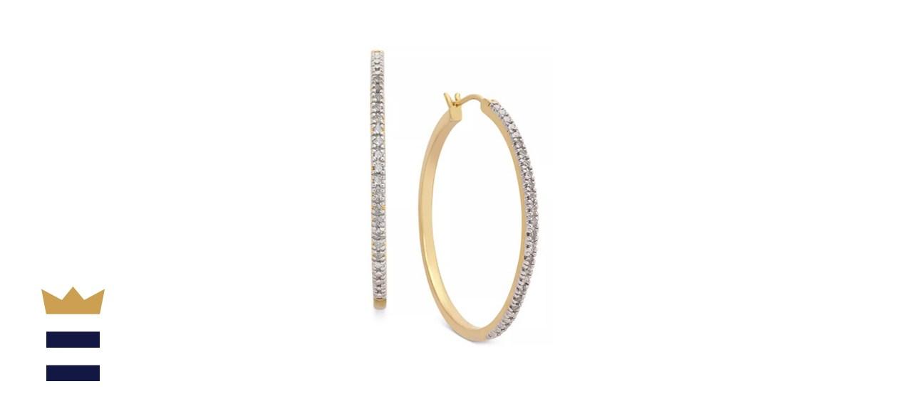 Macy's Diamond Hoop Earrings (1/4 ct.)