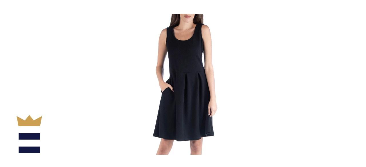 Macys Sleeveless Skater Pleated Mini Dress
