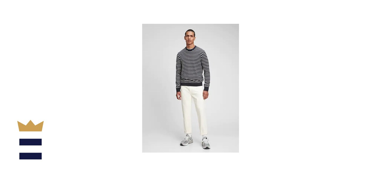Gap Mainstay Stripe Crewneck Sweater