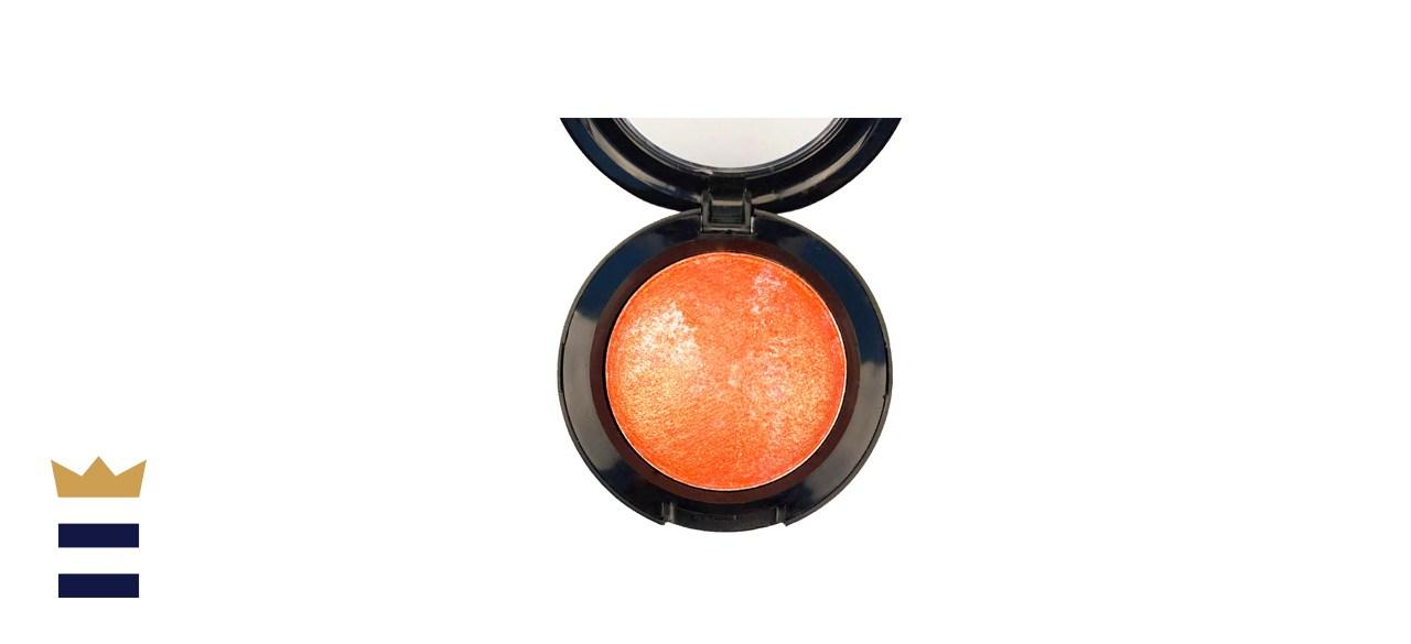 Mallofusa Single Shade Baked Metallic Eye Shadow (Pumpkin Orange)