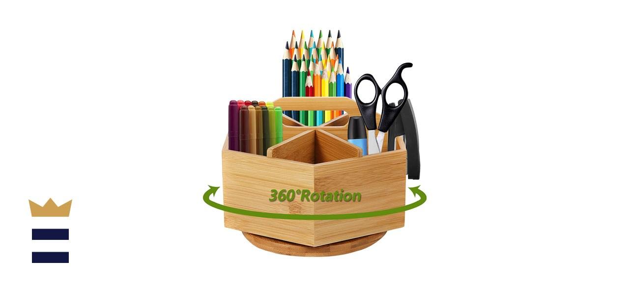 Marbrasse Bamboo Art Supply Organizer