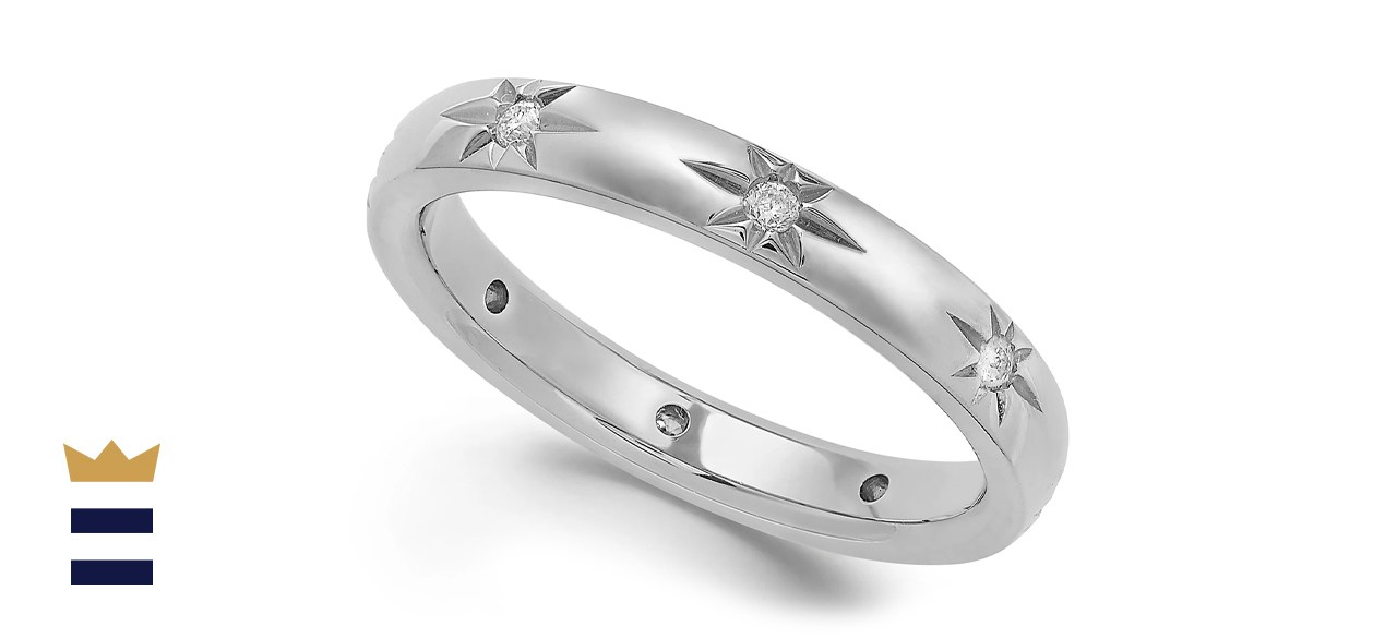 Marchesa Diamond Star Band in 18K White Gold