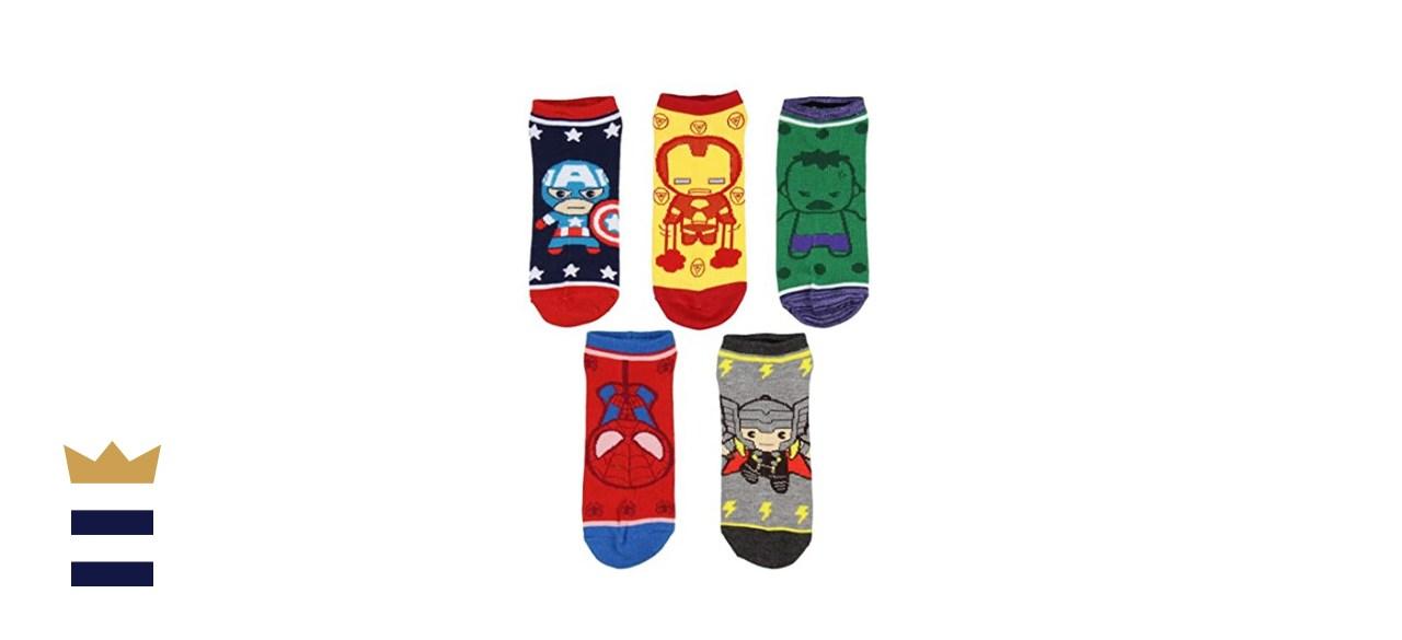 Marvel Avengers Chibi No Show Socks