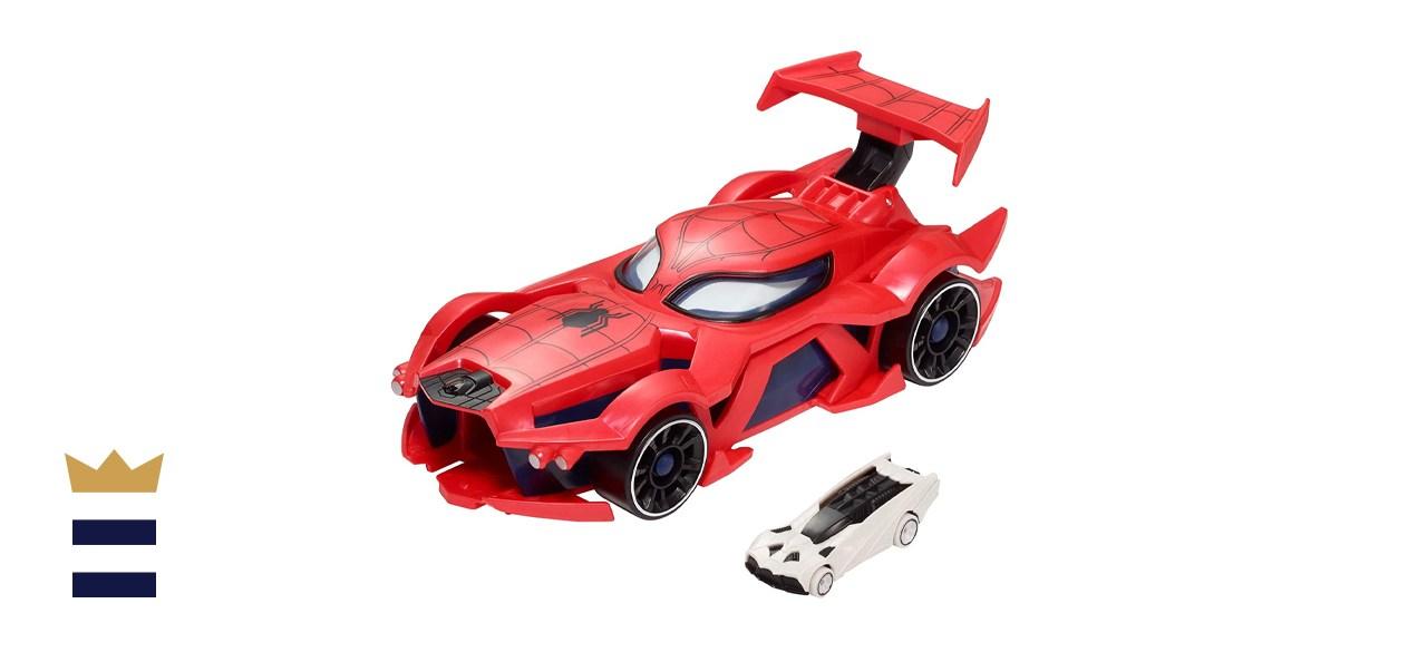 Marvel Hot Wheels Wheels Spider-Man Web-Car Launcher