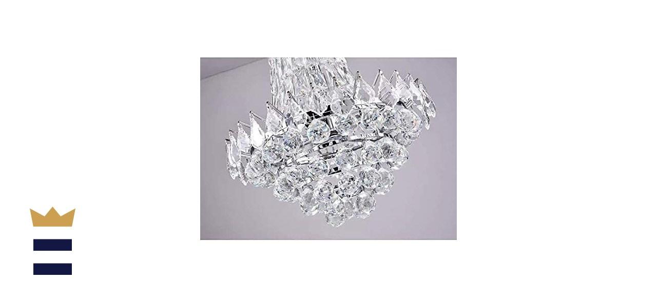 Maxax Six Light Modern Crystal Chandelier