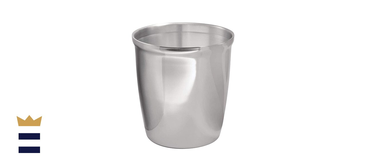 mDesign's Round Metal Trash Can